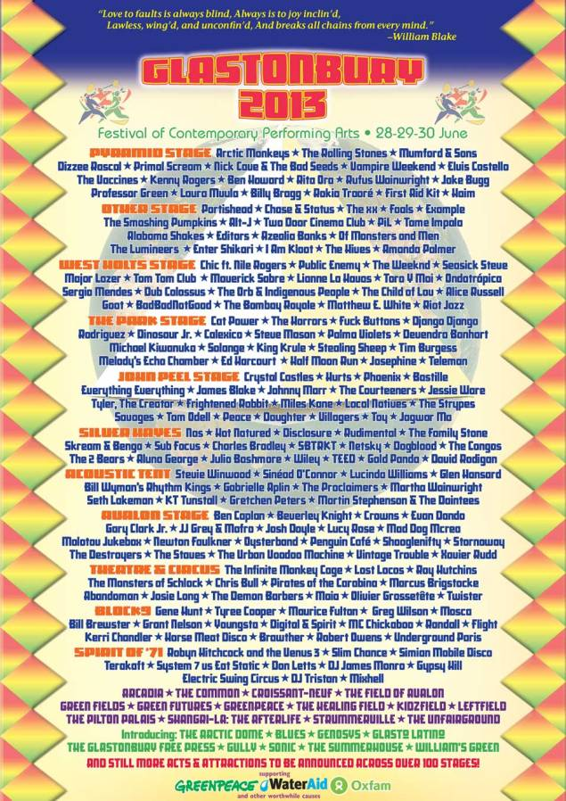 Source: http://www.glastonburyfestivals.co.uk/